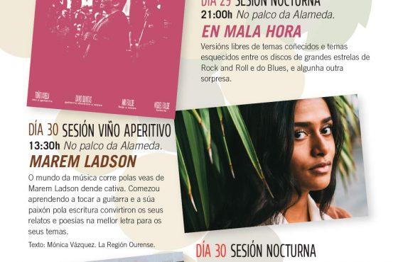 ACTUACIÓNS MUSICAIS NA 54ª FEIRA DO VIÑO DO RIBEIRO