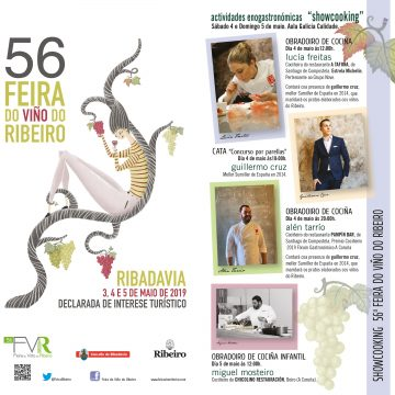 CATAS E SHOWCOOKINGS NA 56ª FEIRA DO VIÑO DO RIBEIRO